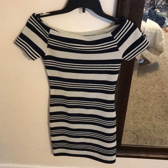 Topshop Dresses & Skirts - Off the shoulder TOPSHOP striped dress